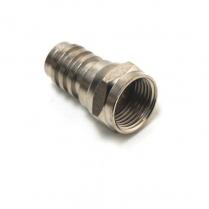 Provo F-Type RG59 PLENUM Connector w/Attached Crimp Ring