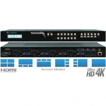 Key Digital 4 In to 2 Out Multiview Seamless Matrix Switcher HD/4K