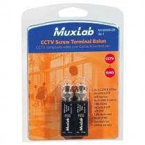 Muxlab VideoEase CCTV Screw Terminal Balun - 2 pc
