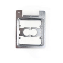 Caddy Metal Low Voltage 2 Gang Mounting Plate