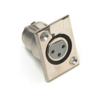 Provo Microphone Connector 3 Contact Chassis Mount Female