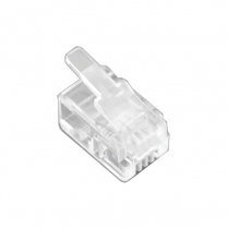 Provo Modular Plug for Use with Flat Modular Telephone Wire 4 pin