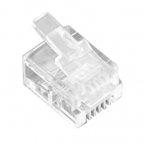 Provo Modular Plug for Use with Flat Modular Telephone Wire [6 Pin]