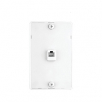 Provo Wall Phone Mount with Jack Assembly [4 Pin] - WH
