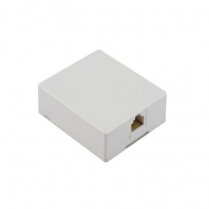 Provo Modular Surface Jack w/Connect Block Assembly [4 Pin] - WH