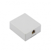 Provo Modular Surface Jack w/Connect Block Assembly [6 Pin] - WH