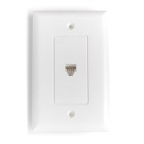 Provo Flush Mount Wall Jack Decora Style 4 Pin - WH