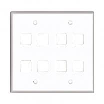 Provo 8 Hole Wall Plate Keystone Jack - WH
