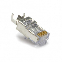Platinum Tools E-ZRJ45 Shielded CAT5E/6 With External Ground Connectors