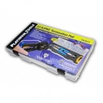 Platinum Tools EZ-RJPRO Termination Kit HD Crimp Tool/Strip./Sciss/Conn.