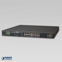 PLANET 16-Port 10/100TX 802.3at PoE + 2-Port Gigabit Combo Switch