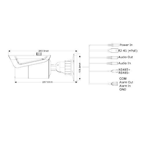 Provision-ISR 40M IR VARI-FOCAL BULLET CAMERA - 5MP IP