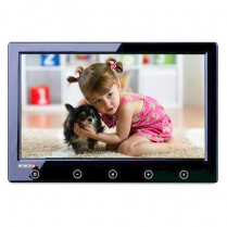 """Provision-ISR 9"""" Monitor Thin 800 x 480 2 Video in - Black"""