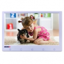 """Provision-ISR 9"""" Monitor Thin 800 x 480 2 Video in - White"""