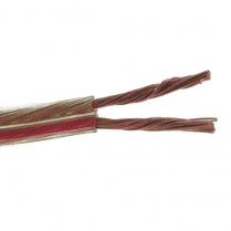 Provo Speaker 14-2c STR BC RoHS Cable – Clear/Red Stripe