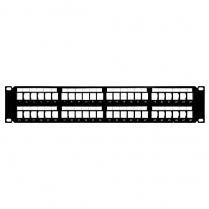 SynConnect High Density 2U Blank 48 Port Keystone Patch Panel