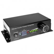 SyncSound Stereo PWR Amp w/IR remote Class-D 15W@ 4ohms DC12V/2A