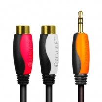 SyncWire Audio Cable 3.5mm Stereo Male 2x RCA Female 2 Mtr RoHS