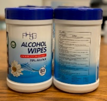 80 CT Canister Sanitizing Wipes w/ 75% Alcohol (80wipe/Can, 20 Can/Case)