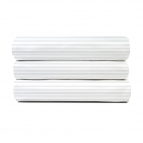 "Golden Suite T-250 Sheets White/White 3/8"" Stripe Closeouts"
