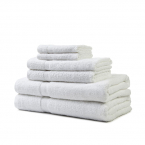 Golden Touch Towels - White
