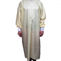 Reusable Isolation Gown Yellow Knit Cuff & Ties, Level I (60pcs/CS)