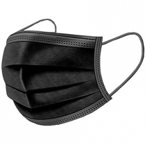 Non-Woven 3 Layer Disposable FaceMask Black 600/Bx