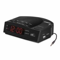 Conair Clock Radio W/Usb Charging Port And Single D