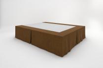Stucco Bedskirts - Coffee Brown