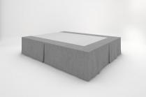 Stucco Bedskirts - Slate