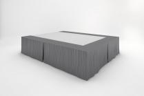 Stream Bedskirts - Moonlight Grey