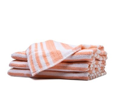 Golden Jewel Tropical Stripe Pool Towels