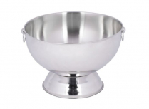 14Qt. Stainless Steel Bowl With Decorative Handle Rings