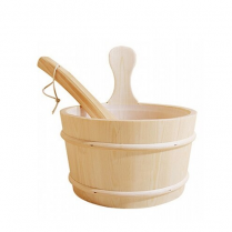 Finlandia Sauna Bottomless Sauna Bucket With Ladle, Gallon