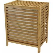 Hamper Bamboo Open Slat W/Removable Bag (Natural)
