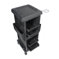 4 Tray Lockable Trolley