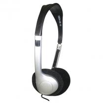 Earphones Stereo Headset Silver 25Ct