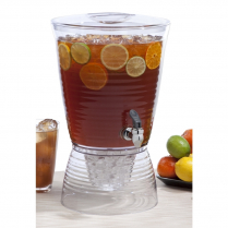 Beverage Dispenser Round Bark Acrylic 2.5 Gallons