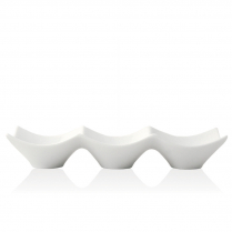 FOH Bowl White Porcelain Collection Square Triple Origami 9.