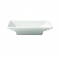FOH White Porcelain Square Dish  Kyoto