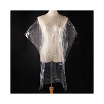 "Clear Disposable Salon Cape, 43.3"" X 51.2"", 100Ct"