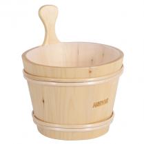 Finlandia Sauna Pine Sauna Bucket W/ Plastic Liner, 1.84 Gal