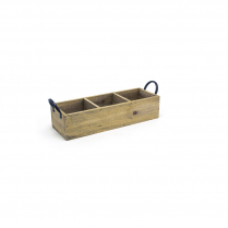 FOH Rustic Wood Holder Asheville Natural