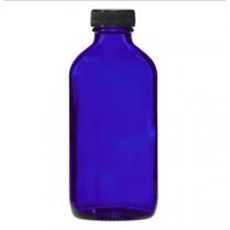 Bottle Cobalt Glass W/Lid