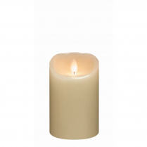 Candle Mirage Gold Flameless Pillar Cream