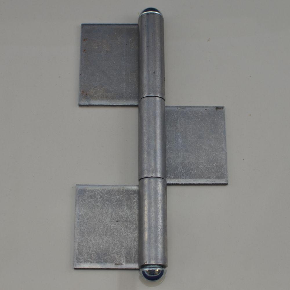 K3s-220 Weld On 3 Piece Steel Flag Hinge 8-5  8 U0026quot