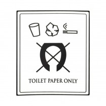 DECAL- TOILET PAPER ONLY