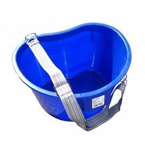 Harvest Bucket, Blue w/strap