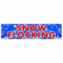 Banner - 3' x 12' Snow Flocking