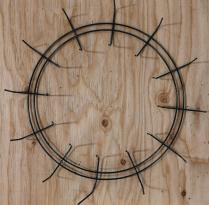 "12"" double rail crimp wreath ring, green"
